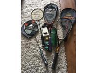 Badminton/squash racket set