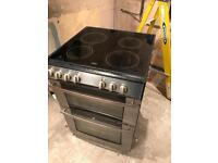 Electric twin oven and hob