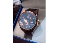 ROSE GOLD GRAND CARRERA RUBBER STRAP TAG HEUR