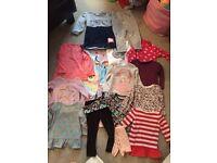 Girls clothes/shoes bundle 18-24m