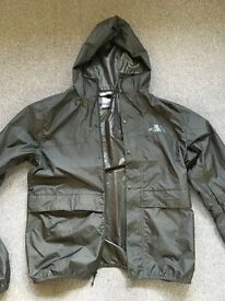 Men's North Face rain jacket, size small and black