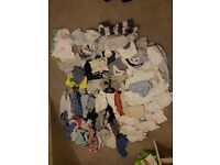 **80 items** Baby Boy Clothes Bundle - Tiny Baby to 1 Month - Mothercare,Next,George,Matalan