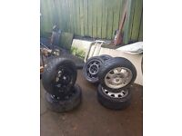 Peugeot wheels and rally tires