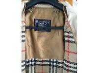 Ladies size 12 Burberry Trench Coat
