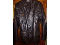 Belstaff Panther in black brown leather. It 56 UK 46