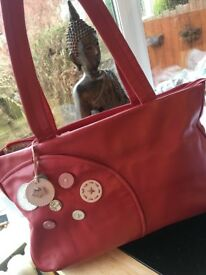 Radley Leather large red workbag
