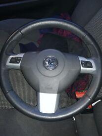 Vauxhall Astra steering wheel