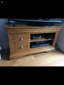 Solid oak French louise style tv unit