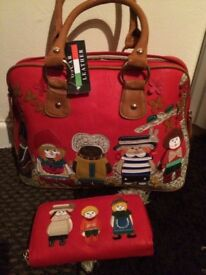 Oscar leather handbag with matching purse