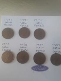 Rare new pence 2p coins