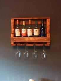 Recycled wooden wine rack.