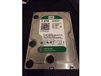 "2 TB Western Digital Green Internal Hard Drives x3 Avail 3.5"" Size"