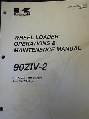 Kawasaki 90ziv-2 Wheel Loader Operations Maintenence