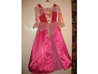 BEAUTIFUL SLEEPING BEAUTY DRESS age5-7 with HOOP - IMMACULATE REDUCED to £10 +free PRINCESS RUCKSACK