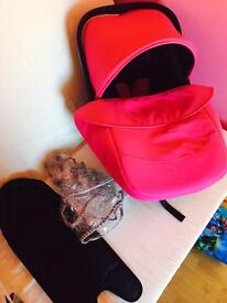 Pink /black carseat first stage