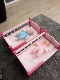 Dolls bunk beds and dolls