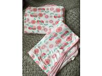 2 x extra large baby girl stretchy swaddle blankets