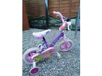 Girls bike with stablerisers £15