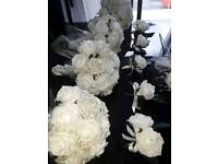 FABOULOUS Wedding Package Ivory Faux Roses with Pearls and Diamonte (NEW)
