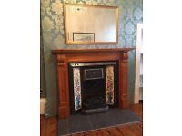 Victorian Style Cast Iron Fireplace with wooden surround