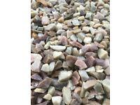 20 mm Rosie quartz garden and driveway chips/ stones/ gravel