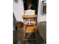 Wooded high chair