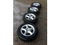"""X4 Alloy Whees & Tyres X5 BMW 17"""" Winter Tyres Michelin"""