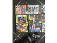 Xbox Original, games, controllers and dvd remote control