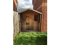 WOODEN GARDEN SHED PLAYHOUSE