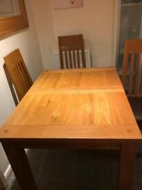 Light oak dining set
