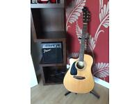 Fender acoustic guitar & amp