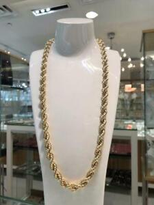 10k Yellow Gold Rope Chain Link 28 inches 9.6 mm 32.3 gr Québec Preview