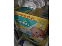 Jumbo pack of size 1 Pampers x 96 (three boxes)