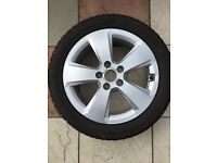 Audi Genuine Rims with Dunlop 205/50 R17 93H Tyre x 4 with storage covers appox 1,500 miles covered
