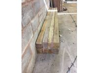 Unused pressure treated fence posts 6inch x 4 inch x 10ft long