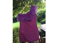 Purple custom made dress