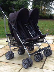 Mamas and Papas Double Buggy with Raincovers