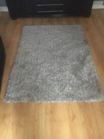 Silver grey rug
