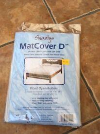 Double plastic mattress cover