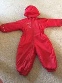 Red regatta all in one puddle coat