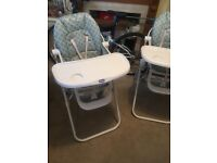 2 baby highchairs for £15