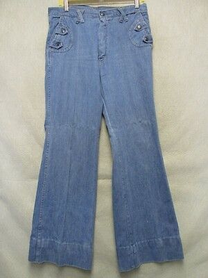A7212 Jeans Best Vintage 1970's Straight Jeans Men