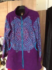 Kunst und Magie gothic goa psy fleece coat jacket