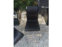 6 real leather dining chairs bistro style