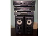 Mission Speakers - Technics and Sherwood Separate Stereo System