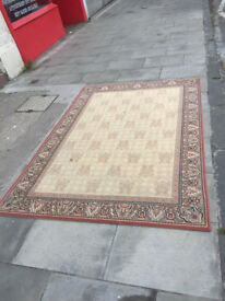 Rug in light colours , feel free to view size 90 in x 62 in