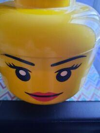 Used large girl lego storage head £2