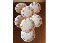 """Royal Worcester Evesham """"Vale"""" Finest Bone China Saucers x 7 excellent cond replacements £5!"""