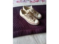 Yellow Converse Trainers Size 4