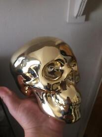 Golden Skull Ornament